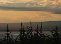 Denali seen from a hillside in Eagle River, Alaska.