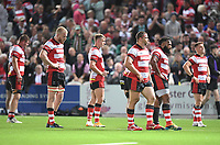 24th September 2021;  Kingsholm Stadium, Gloucester, England; Gallaher Premiership Rugby, Gloucester Rugby versus Leicester Tigers: Gloucester are left frustrated with their performance, after losing 26-33
