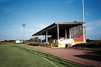 The main stand at Albion Rovers FC Football Ground, Cliftonhill, Coatbridge, Scotland, pictured on 28th July 1999