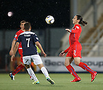Bilel Mohsni fails to control the ball and Falkirk steal it and run up the park to score