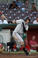 Ryan Lollis #17 of the San Jose Giants bats against the Inland Empire 66'ers at San Manuel Stadium on June 11, 2012 in San Bernardino,California.Inland Empire defeated San Jose 12-8.(Larry Goren/Four Seam Images)