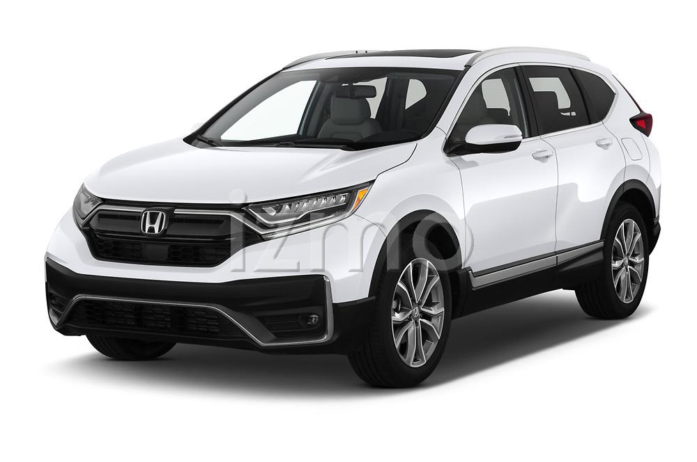 2020 Honda CR-V Touring 5 Door SUV Angular Front automotive stock photos of front three quarter view