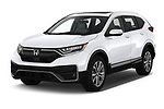 2020 Honda CR-V Touring 5 Door SUV Angular Front automotive stock photos of front three quarter view