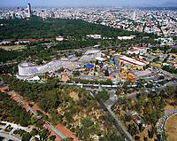 aerial photograph of La Feria, in Chapultepec Park,  Mexico City