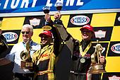 NHRA Mello Yello Drag Racing Series<br /> Toyota NHRA Sonoma Nationals<br /> Sonoma Raceway, Sonoma, CA USA<br /> Sunday 30 July 2017<br /> J.R. Todd, DHL, Toyota, Camry, Funny Car, Winner, Celebration, Trophy<br /> <br /> World Copyright: Jason Zindroski<br /> HighRev Photography
