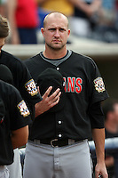 June 12th 2008:  Pitcher John Van Benschoten of the Indianapolis Indians, Class-AAA affiliate of the Pittsburgh Pirates, during a game at Fifth Third Field in Toledo, OH.  Photo by:  Mike Janes/Four Seam Images