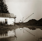 Garrett, Pennsylvania.July 6, 2003..Above ground coal mine. .