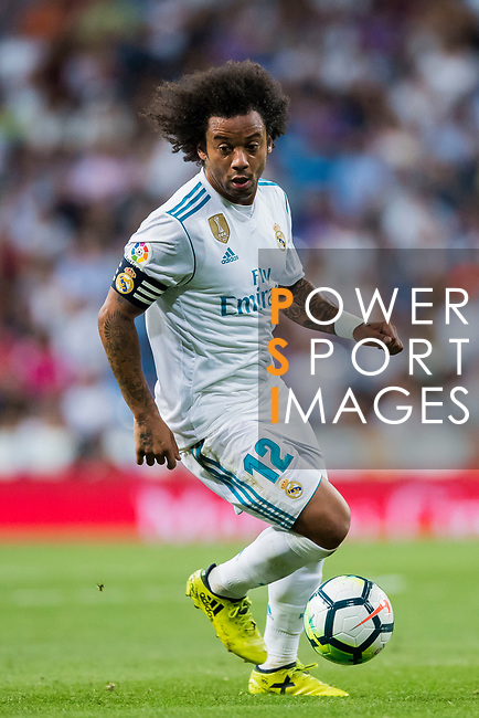 Marcelo Vieira Da Silva of Real Madrid in action during their La Liga 2017-18 match between Real Madrid and Valencia CF at the Estadio Santiago Bernabeu on 27 August 2017 in Madrid, Spain. Photo by Diego Gonzalez / Power Sport Images
