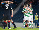 CELTIC'S ANTHONY STOKES CELEBRATES AFTER HE SCORES CELTIC'S THIRD