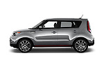Car Driver side profile view of a 2018 KIA Soul Exclaim 5 Door Hatchback Side View