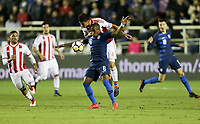 Cary, N.C. - Tuesday March 27, 2018: Darlington Nagbe, Richard Ortiz during an International friendly game between the men's national teams of the United States (USA) and Paraguay (PAR) at Sahlen's Stadium at WakeMed Soccer Park.
