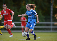 20160513 - LIEGE , BELGIUM : Gent's Chloe Vande Velde pictured during a soccer match between the women teams of  Standard Femina De Liege and KAA Gent Ladies , during the fifth matchday in the SUPERLEAGUE Playoff 1 , Friday 13 May 2016 . PHOTO SPORTPIX.BE / DAVID CATRY