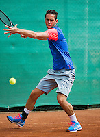 August 13, 2014, Netherlands, Raalte, TV Ramele, Tennis, National Championships, NRTK,  Jesse Timmermans (NED)<br /> Photo: Tennisimages/Henk Koster