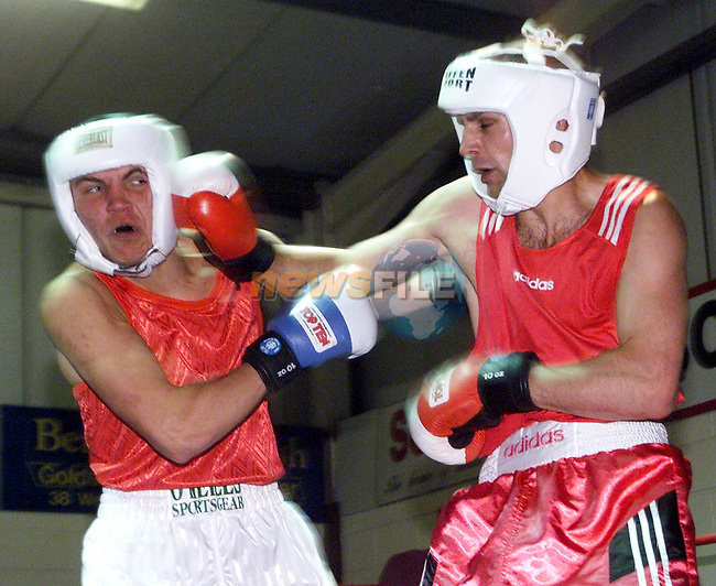 Action at the Millenium Boxing Tournament in the Holy Family Boxing Club..Picture Paul Mohan Newsfile
