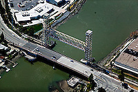 aerial photograph High Street draw bridge Oakland, California
