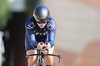 9th September 2021; Trento, Trentino–Alto Adige, Italy: 2021 UEC Road European Cycling Championships, Womens Individual time trials:  SIGURDARDÓTTIR Hafdís (ISL)