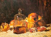 Still life with flacon and pomegranate - Felix Ziem (1821-1911)