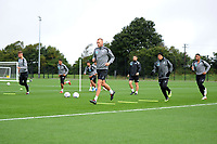 Mike van der Hoorn of Swansea City in action during the Swansea City Training Session at The Fairwood Training Ground, Wales, UK. Tuesday 11th September 2018
