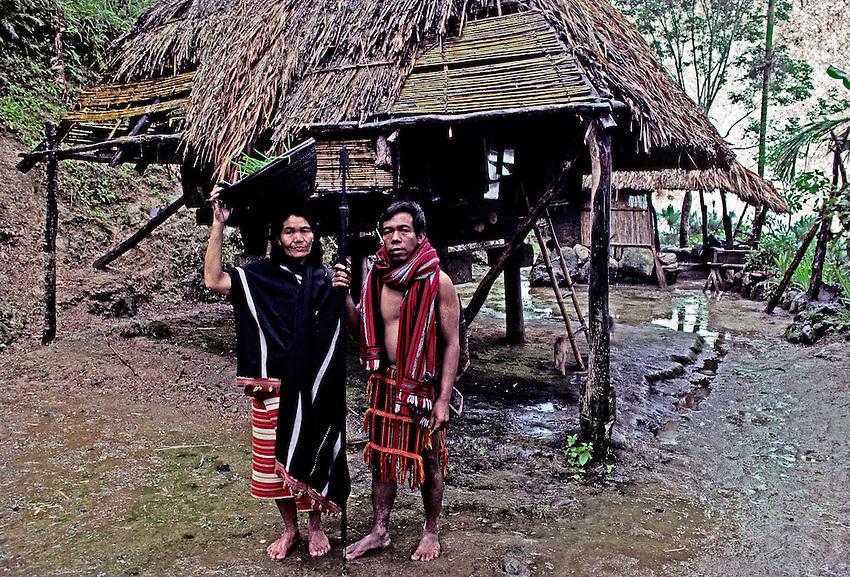 Traditional Ifugao hut circa 1990, Banaue area.