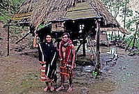 Traditional Ifugao hut circa 1990, Banaue area.