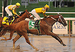 27 Sept 2008: Curlin, jockey Robby Albarado aboard, becomes the richest horse in racing history with a 3/4-length victory in the Jockey Club Gold Cup at Belmont Park in Elmont, New York.