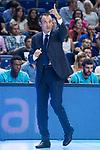 Movistar Estudiantes coach Salva Maldonado during Basketball Champions League match between Movistar Estudiantes and Donar Groningen at Wizink Center in Madrid, Spain October 02, 2017. (ALTERPHOTOS/Borja B.Hojas)