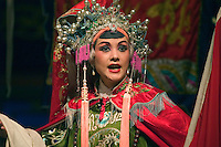 Female star in full costume preforms at the Chinese Opera - Chengdu, China in Sichuan Province