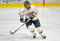10 January 2009: University of Vermont Catamount forward Jack Downing, a Sophomore from New Canaan, CT, in action against the Boston College Eagles during the second game of a weekend series at Gutterson Fieldhouse in Burlington, Vermont. The Catamounts rallied from an early 2-0 deficit to defeat the visiting Eagles 4-2. Mandatory Photo Credit: Ed Wolfstein Photo