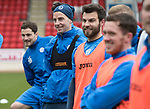 St Johnstone Training….17.03.17<br />Steven MacLean pictured during training this morning at McDiarmid Park with Paul Paton, Richie Foster and Dabby Swanson ahead of tomorrow's trip to Motherwell.<br />Picture by Graeme Hart.<br />Copyright Perthshire Picture Agency<br />Tel: 01738 623350  Mobile: 07990 594431