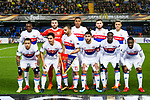 Players of Olympique Lyon line up and pose for a photo prior to the UEFA Europa League 2017-18 Round of 32 (2nd leg) match between Villarreal CF and Olympique Lyon at Estadio de la Ceramica on February 22 2018 in Villarreal, Spain. Photo by Maria Jose Segovia Carmona / Power Sport Images