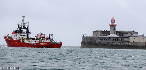Danish Survey Vessel Arctic Ocean Calls to Dun Laoghaire Harbour During Codling Bank Wind Farm Survey Work