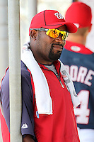Washington Nationals coach Marlon Anderson before a Instructional League game against the national team from Italy at Carl Barger Training Complex on September 28, 2011 in Viera, Florida.  (Mike Janes/Four Seam Images)