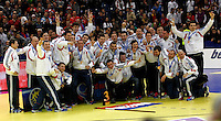 Third  placed Croatian national handball team players celebrate after men`s EHF EURO 2012 handball championship  in Belgrade, Serbia, Sunday, January 29, 2011.  (photo: Pedja Milosavljevic / thepedja@gmail.com / +381641260959)