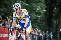 Preben Van Hecke (BEL/Sport Vlaanderen Baloise) up the Kapelmuur.  (muur van Geraardsbergen)<br /> <br /> Binckbank Tour 2017 (UCI World Tour)<br /> Stage 7: Essen (BE) > Geraardsbergen (BE) 191km