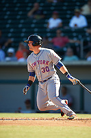 Scottsdale Scorpions Matt Oberste (30), of the New York Mets organization, during a game against the Mesa Solar Sox on October 21, 2016 at Sloan Park in Mesa, Arizona.  Mesa defeated Scottsdale 4-3.  (Mike Janes/Four Seam Images)