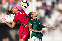Bradenton, FL - Sunday, June 12, 2018: Kennedy Wesley, Alison Gonzalez during a U-17 Women's Championship Finals match between USA and Mexico at IMG Academy.  USA defeated Mexico 3-2 to win the championship.