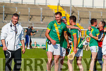 Eoin McCarthy, Kilmoyley Kilmoyley players celebrate after winning the Kerry County Senior Hurling Championship Final match between Kilmoyley and Causeway at Austin Stack Park in Tralee