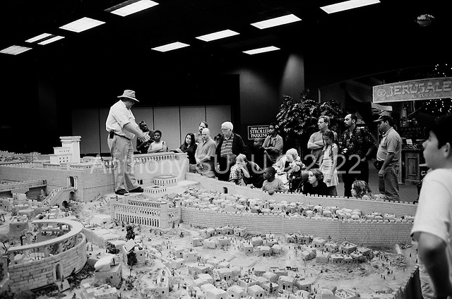 Orlando, Florida.USA .March 27, 2005 ..The Holy Land Experience, in Orlando, is the Disneyland for Christians build and run by converted Jewish Israelis...A large model of Jerusalem in A.D. 66 is laid out for the tourists.