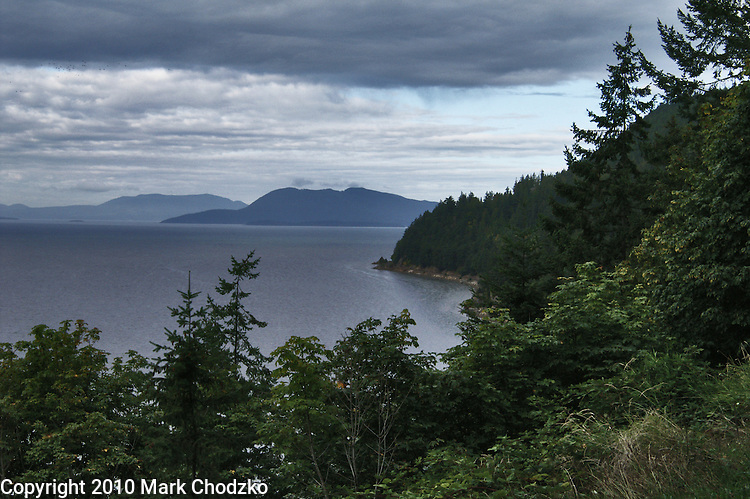 The Washington state coastline.