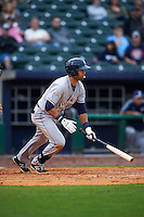 San Antonio Missions first baseman Luis Domoromo (7) at bat during a game against the NW Arkansas Naturals on May 30, 2015 at Arvest Ballpark in Springdale, Arkansas.  San Antonio defeated NW Arkansas 5-1.  (Mike Janes/Four Seam Images)