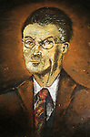 Pavement portrait of James Joyce  Dublin Ireland Eire. ReJoyce Bloomsday.