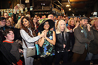 Pictured: People await the live announcement at the Hyst in Swansea, Wales, UK. Thursday 07 December 2017<br />Re: Coventry has been chosen to be the UK's City of Culture for 2021.<br />The other places in the running for the title were Swansea, Paisley, Stoke-on-Trent and Sunderland.