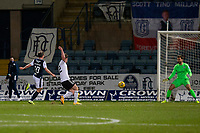 16th March 2021; Dens Park, Dundee, Scotland; Scottish Championship Football, Dundee FC versus Ayr United; Mark McKenzie of Ayr United scores the opening goal to put his side 1-0 ahead in the 17th minute