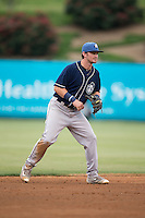 Asheville Tourists shortstop Brendan Rodgers (1) on defense against the Kannapolis Intimidators at Intimidators Stadium on May 28, 2016 in Kannapolis, North Carolina.  The Intimidators defeated the Tourists 5-4 in 10 innings.  (Brian Westerholt/Four Seam Images)