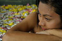 SPA TREATMENT, IN A FLOWER BATH, PALAU MICRONESIA