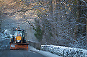 08/12/17<br /> <br /> A snow plough drives along a snowy lane in Buxton, after overnight snowfall in the Derbyshire Peak District.<br />   <br /> All Rights Reserved F Stop Press Ltd. +44 (0)1335 344240 +44 (0)7765 242650  www.fstoppress.com