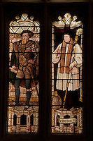 Detail of the stained glass windows in Christ Church College, Oxford University.
