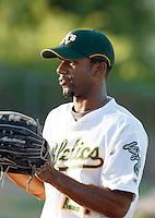 Myrio Richard -  AZL Athletics - 2009 Arizona League.Photo by:  Bill Mitchell/Four Seam Images