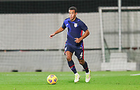 WIENER NEUSTADT, AUSTRIA - NOVEMBER 16: Tyler Adams #4 of the United States runs with the ball during a game between Panama and USMNT at Stadion Wiener Neustadt on November 16, 2020 in Wiener Neustadt, Austria.