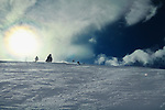Snowbasin, Utah's Snowsports Director Stew Marsh skiing on the mountain.